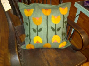 """MacIntosh Yellow"" Wool Applique by Michele Dore"